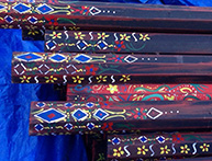 painted sidepoles